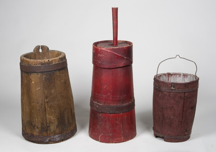 primitive, butter, churn, pail, pine