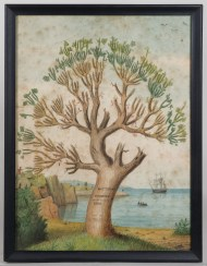 watercolor, hingham, family, tree