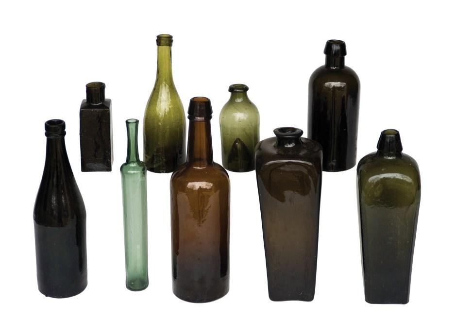 glass, bottles