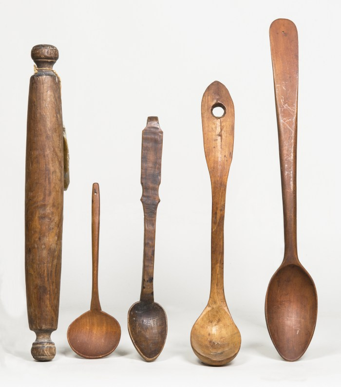 wooden, kitchen, spoons, rolling, pin
