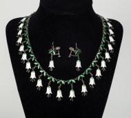 victorian, enamel, necklace, earrings, soloman, lincoln