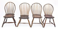 windsor, chairs, bowback, pine
