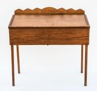 pine, desk, slant, lid
