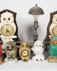 vintage, owl, lamps, ceramic