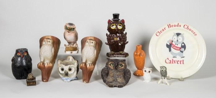 ceramic, owls