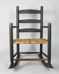 ladderback, rocking, chair, maple