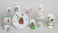 children's, ceramic, cups, saucers