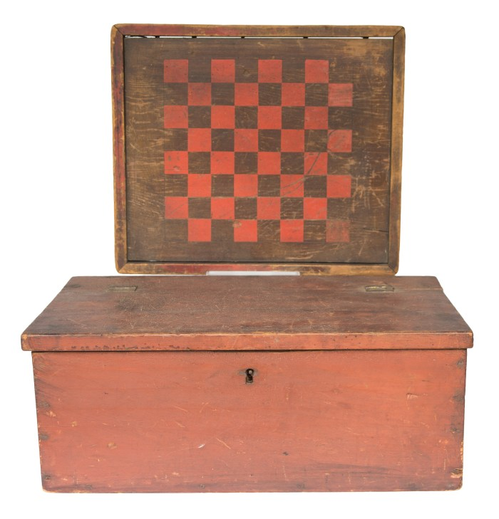 checkerboard, lift, lid, box, pine