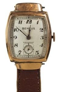 benrus, wristwatch, 14k