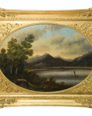 oil, paintings, hudson, river, hovey