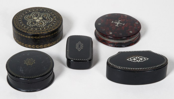 snuff, boxes