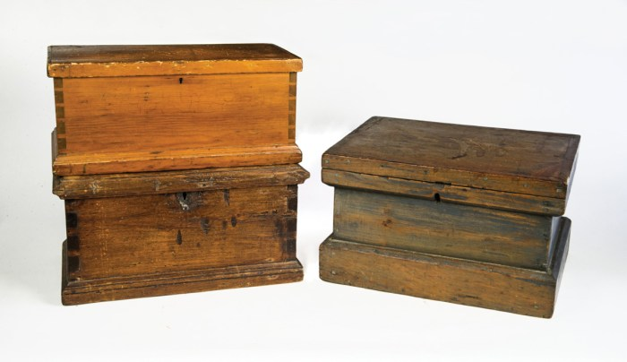 Three 19th C. Boxes