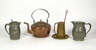 Fire Lighter, Teakettle, Coffee Pot And Pitcher