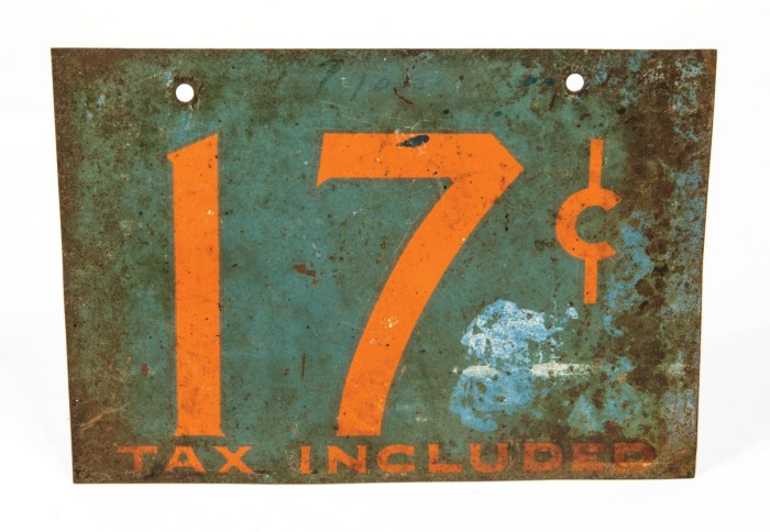 Mid 20th C. Tin Sign