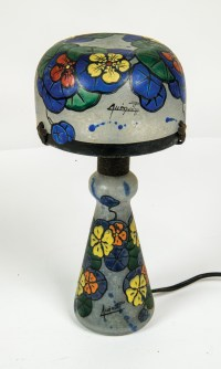 Glass Lamp, Signed