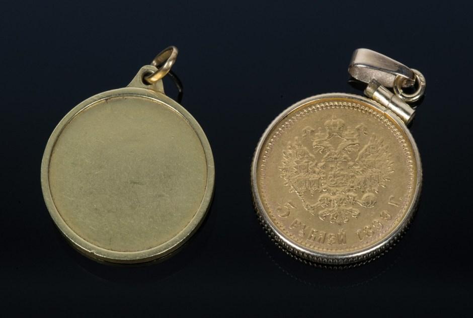Two Gold Pendants