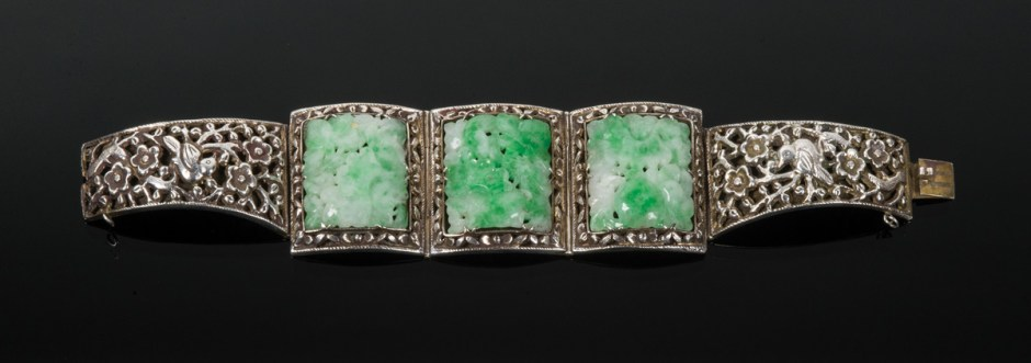 Collection of Jade and Sterling Silver Jewelry