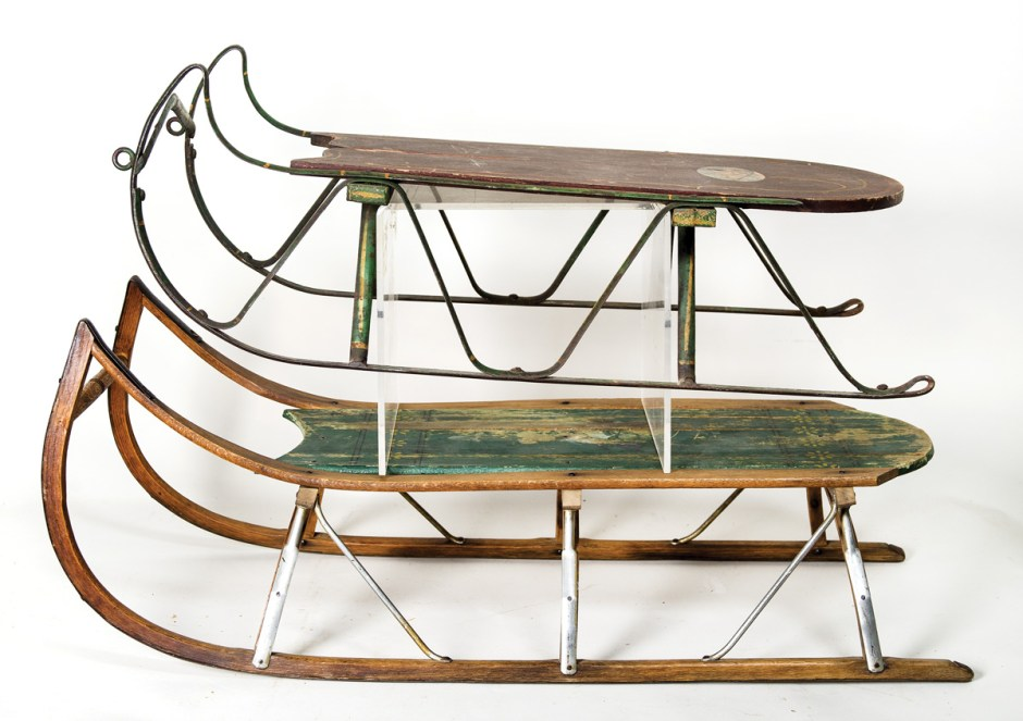 Two Late 19th C. Children's Sleds