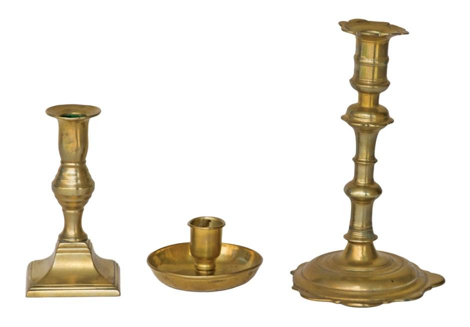 Three Brass Candlesticks