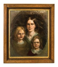 Portrait of Mother and Two Daughters