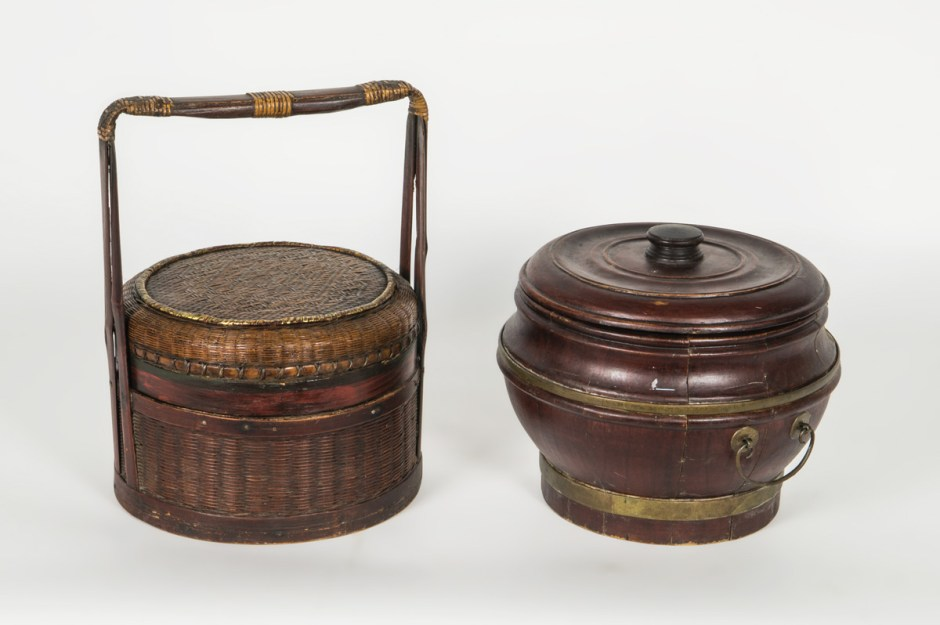 Chinese Trunk, and Two Containers