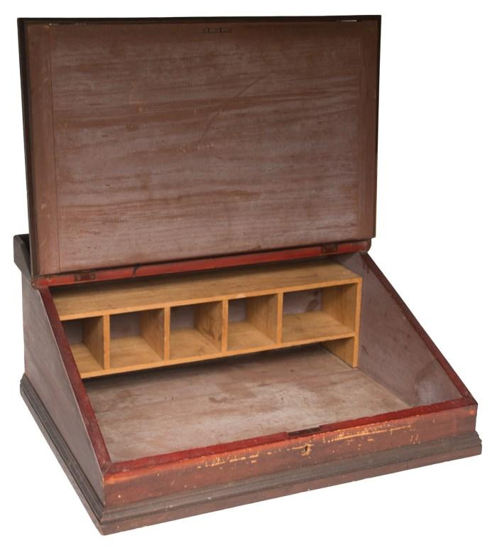 19th C. Slant Lid Table Top Desk