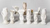 Victorian Parianware Vases