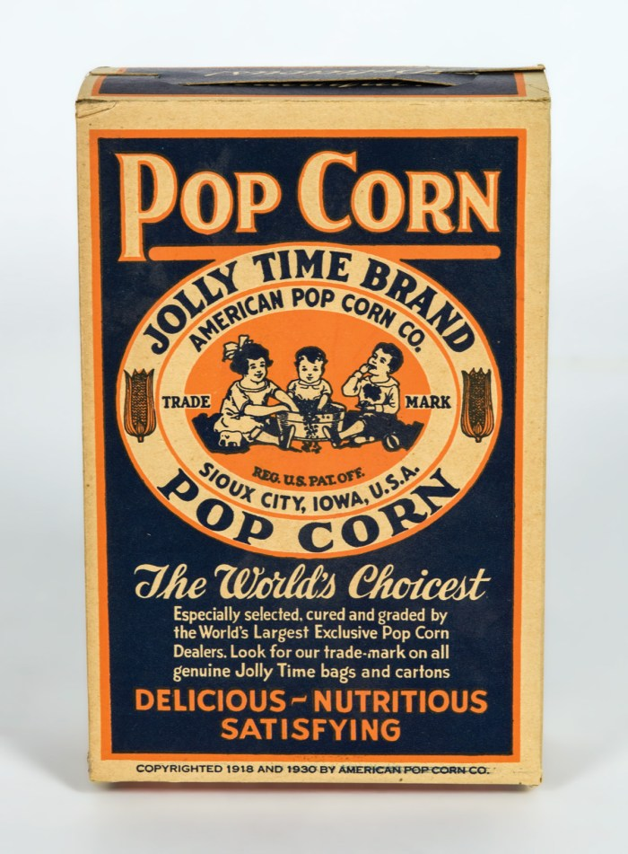 Popcorn Box, Six Advertising Cards