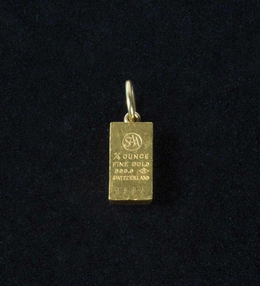 Gold Ingot Pendant