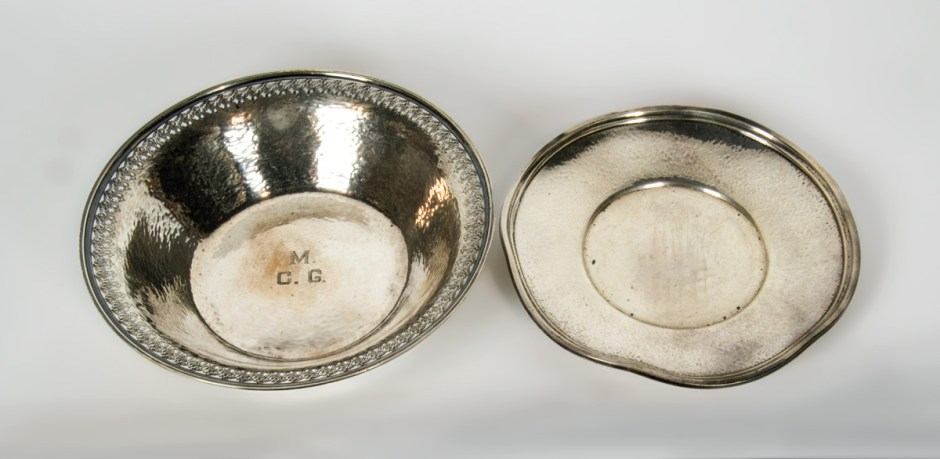 Sterling Plate and Bowl