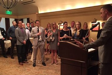 NAIOP Arizona protégés getting announced.