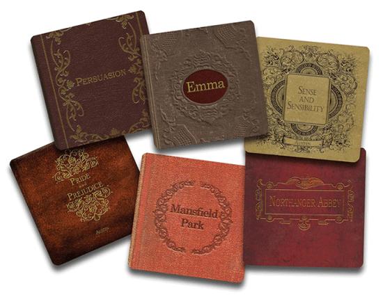 Jane Austen Coasters
