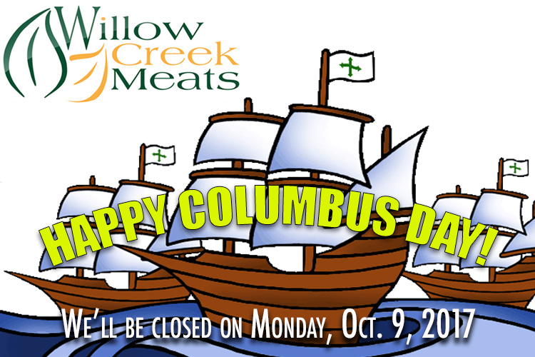 We'll be closed on Monday, Oct. 9th 2017
