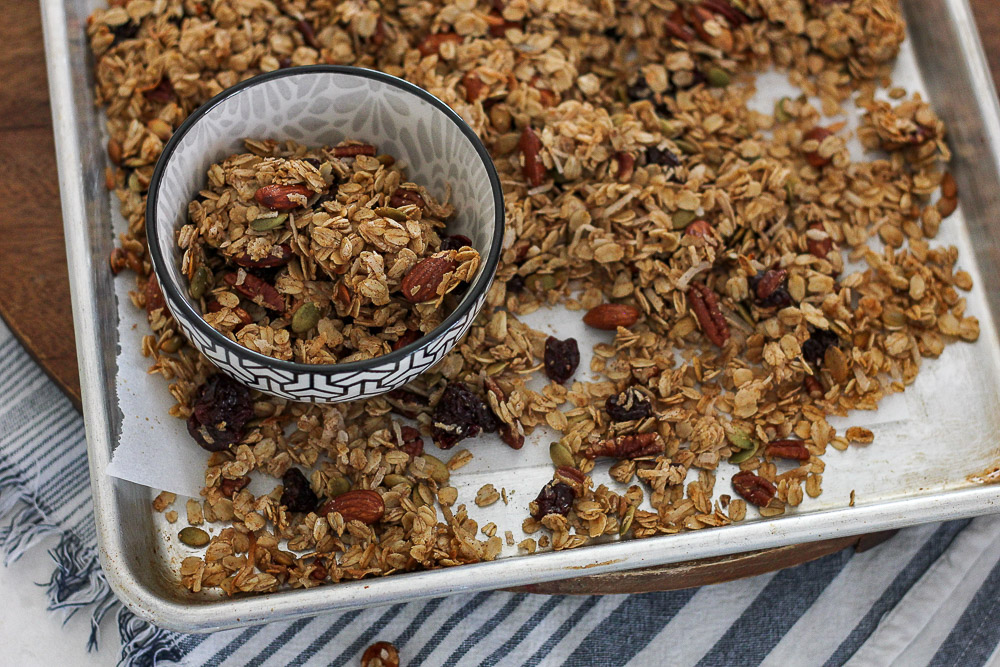 Homemade Cherry Coconut Granola - Norah Pritchard | Willowcrest Lane