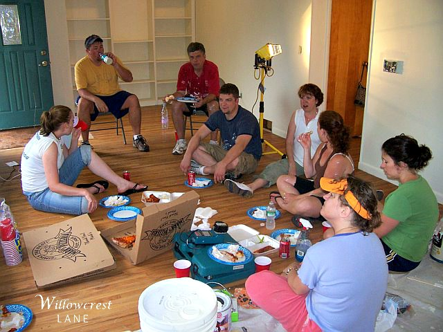 Willowcrest inside first meal 2008