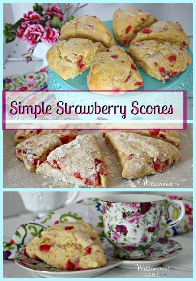 Tender and flaky, these Simple Strawberry Scones are also quick and easy.