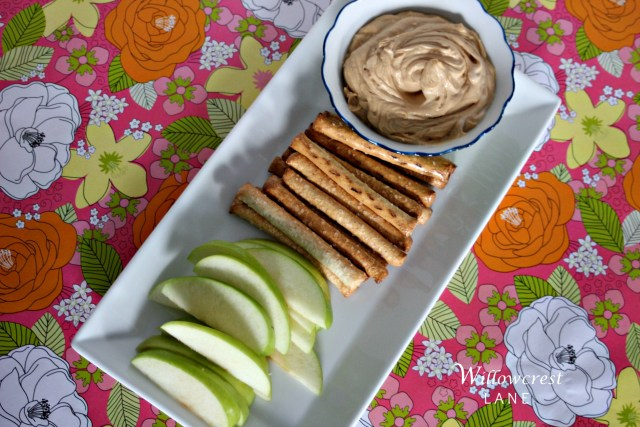 Peanut butter or Sunbutter dip pairs well with anything.