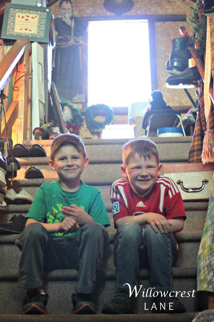 Boys at Nancy's Barn