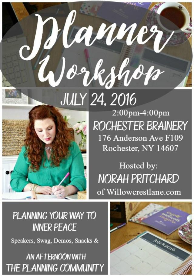 willowcrest lane planner workshop norah pritchard