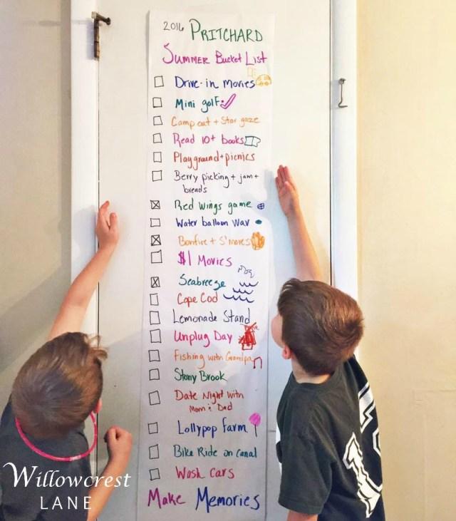 willowcrest lane summer bucket list