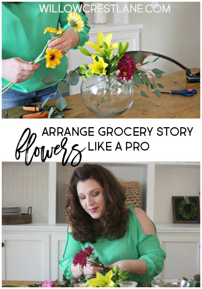 Quick tips to make a stunning and unique grocery store flower arrangement.