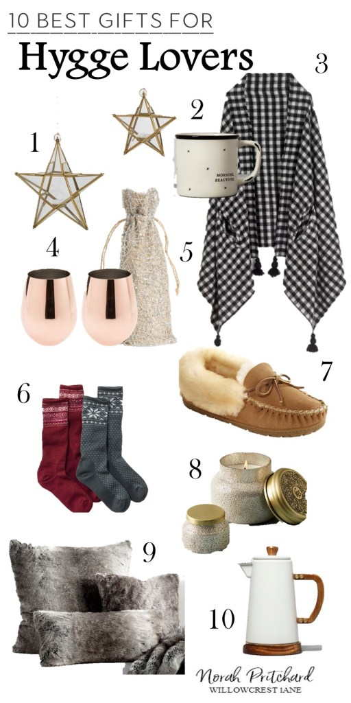 The perfect gifts for a cozy hygge lover.