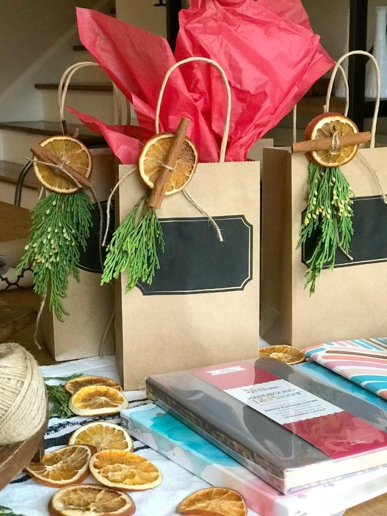 Easy DIY Orange Slices make beautiful gift wrapping embellishments