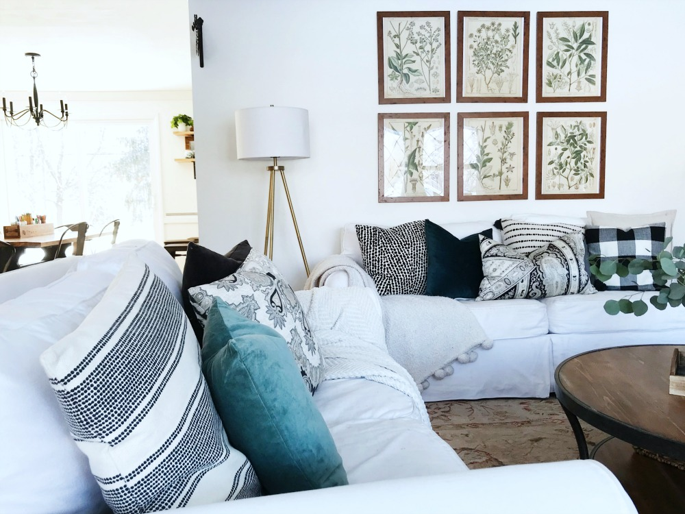 Add layers of cozy neutral pillows for a quick and inexpensive refresh of your space!