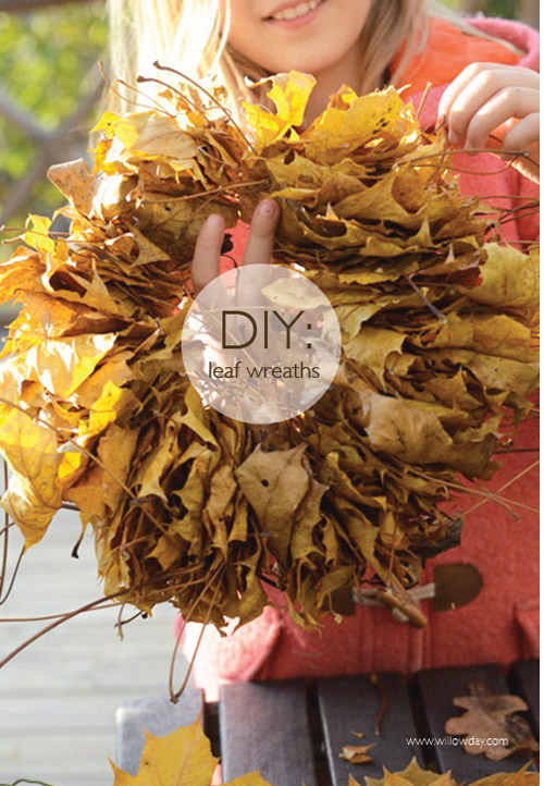 Easiest Leaf Wreath (ever)