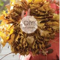 Easiest Leaf Wreath (ever)