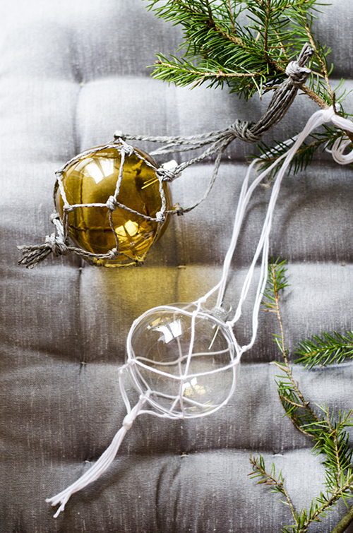 Macramé Ball Ornament