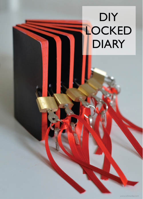 Diy diary with lock willowday for Diy escape room