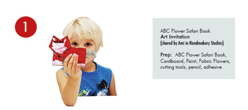 5 ABC Flower Safari Book Craft Ideas for kids - willowday