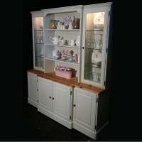 Large Ducal Pine Farmhouse Kitchen Welsh Dresser Shabby ...